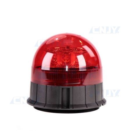 Gyrophare led rouge 24W rond magnétique ECE R65
