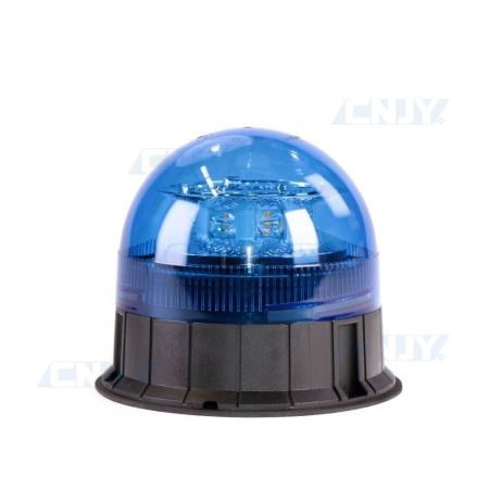 Gyrophare led bleu 24W ISO 3 points ECE R65