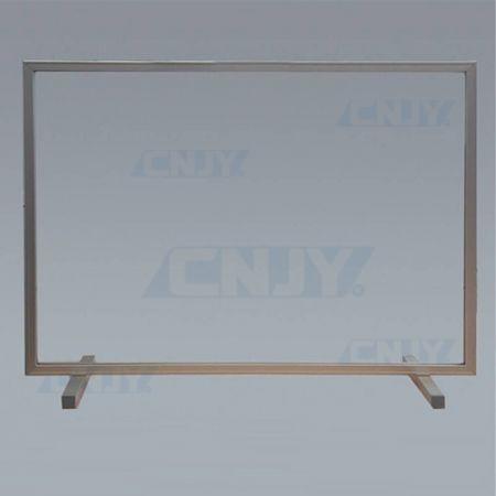 Hygiaphone écran de protection sans trappe sur cadre aluminium