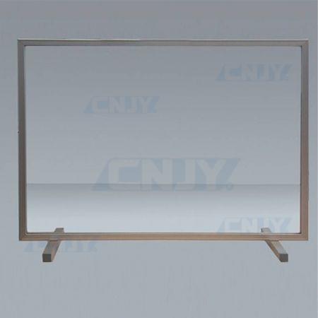 Hygiaphone écran de protection avec trappe sur cadre aluminium