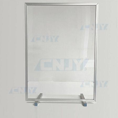 Hygiaphone écran de protection avec trappe portrait sur cadre aluminium