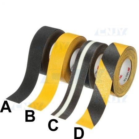 Bande de marquage 25mm jaune et noir adhésive pour sol antidérapante 3M