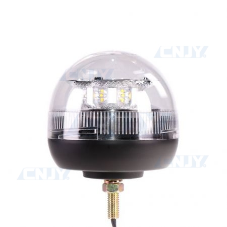 Gyrophare led blanc 24W ISO 1 point central ECE R65