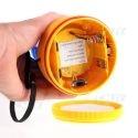 Gyrophare magnétique autonome led bleu à pile