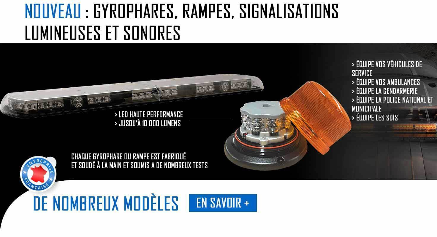Gyrophare et signalisations lumineuses et sonores